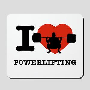 I love Power lifting Mousepad