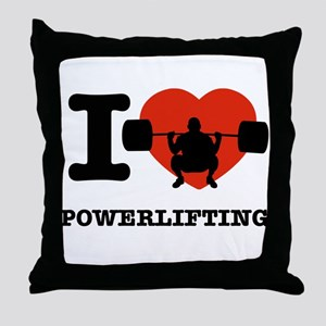 I love Power lifting Throw Pillow
