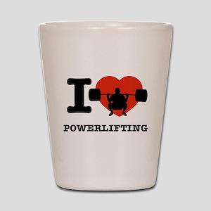 I love Power lifting Shot Glass