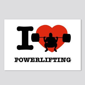 I love Power lifting Postcards (Package of 8)
