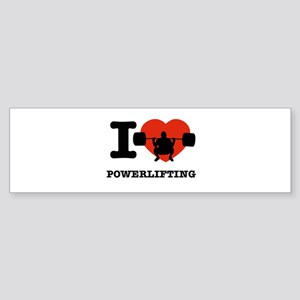 I love Power lifting Sticker (Bumper)