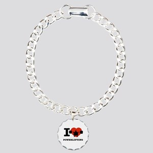 I love Power lifting Charm Bracelet, One Charm