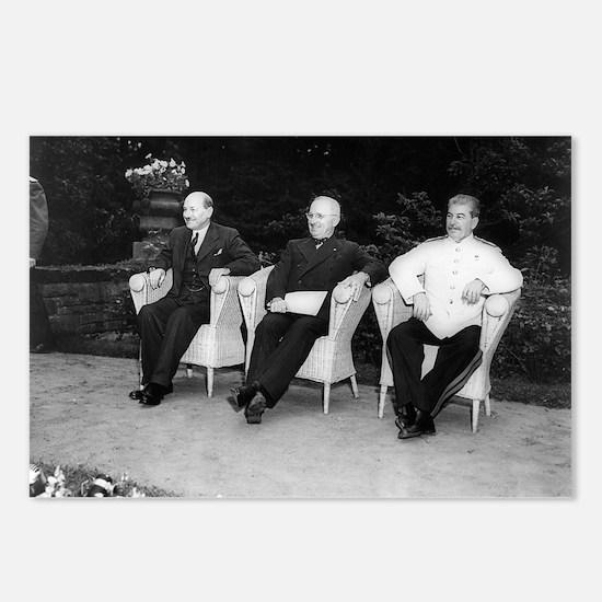 Clement Attlee, Harry Truman, and Joseph Stalin