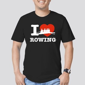 I love Rowing Men's Fitted T-Shirt (dark)