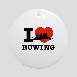 I love Rowing Ornament (Round)