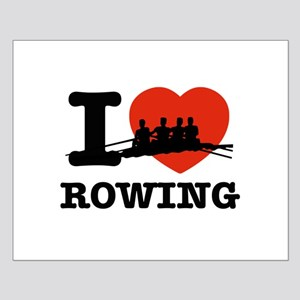 I love Rowing Small Poster