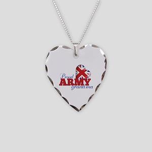 Proud Army Grandma - Necklace Heart Charm