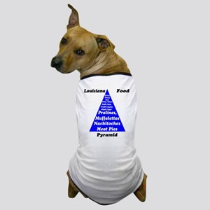 Louisiana Food Pyramid Dog T-Shirt