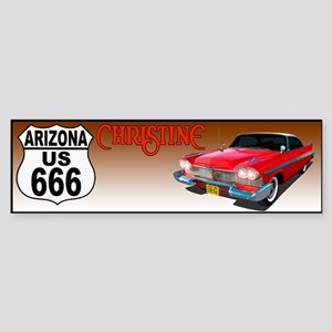 666-AZ-Christine-bump Bumper Sticker