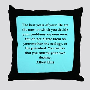 Albert Ellis quote Throw Pillow
