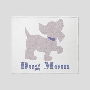 Dog Mom Purple Throw Blanket
