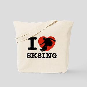 I love Skate boarding Tote Bag