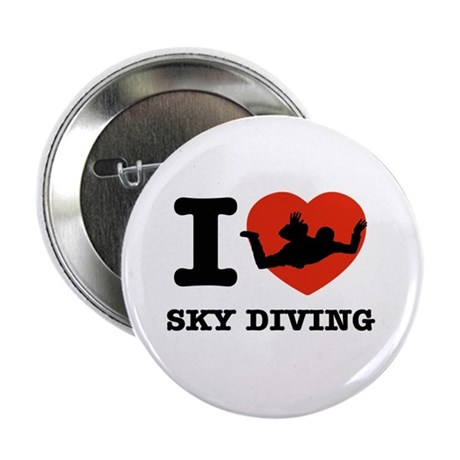 "I love Sky diving 2.25"" Button (100 pack)"