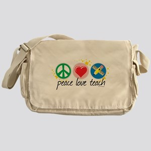 Peace Love Teach Messenger Bag