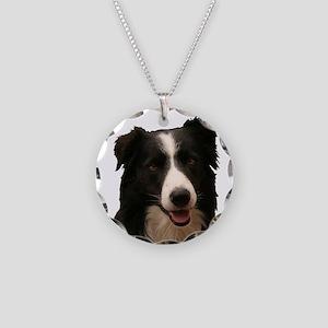 Border smile Necklace Circle Charm