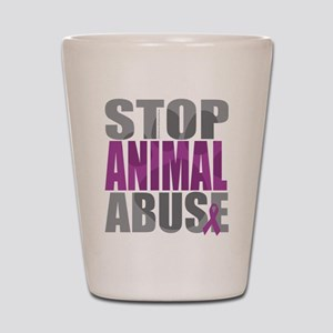 Stop Animal Abuse(Paw) Shot Glass