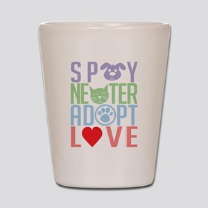 Spay Neuter Adopt Love 2 Shot Glass