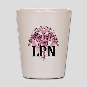 LPN Caduceus Pink Shot Glass