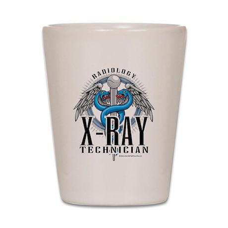 X-Ray Tech Caduceus Blue Shot Glass