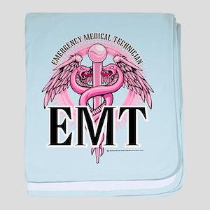 EMT Caduceus Pink baby blanket