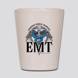 EMT Caduceus Blue Shot Glass