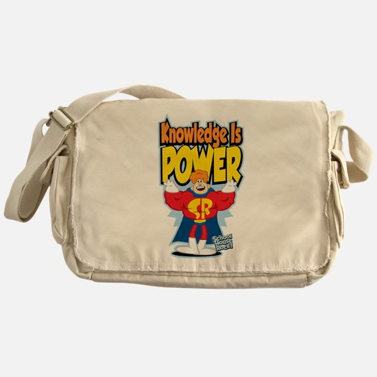 Knowledge Is Power Messenger Bag