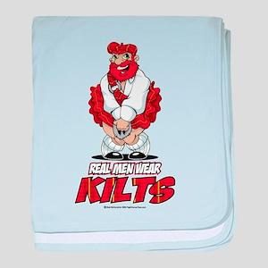 Real Men Wear Kilts 2 baby blanket