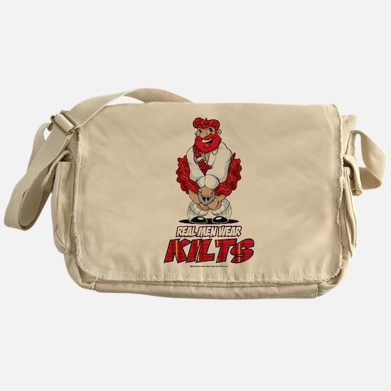 Real Men Wear Kilts 2 Messenger Bag