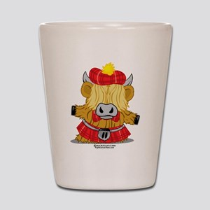 Highland Cow Red Kilt Shot Glass
