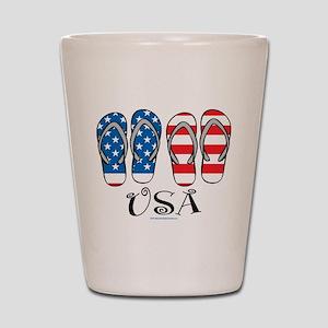 USA Flip Flops Shot Glass