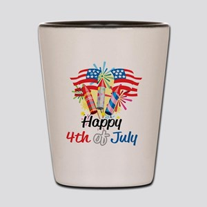 4th of July Fireworks Shot Glass