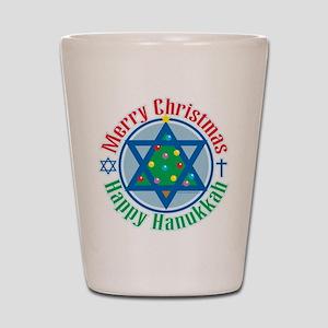 Christmas-Hanukkah Shot Glass