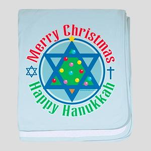 Christmas-Hanukkah baby blanket