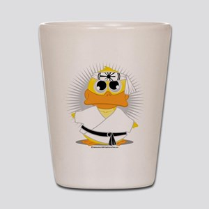 Karate Duck Shot Glass