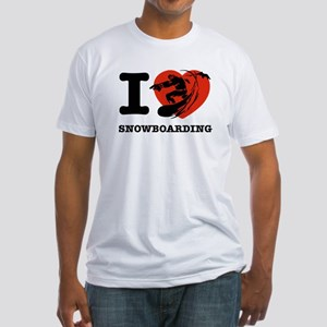 I love Snow boarding Fitted T-Shirt