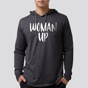 Woman Up Mens Hooded T-Shirts
