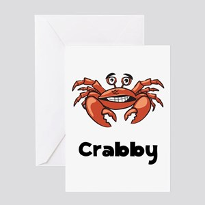 Crabby Crab Greeting Card
