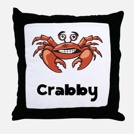 Crabby Crab Throw Pillow