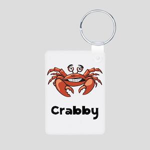 Crabby Crab Aluminum Photo Keychain
