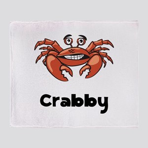 Crabby Crab Throw Blanket