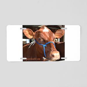 Cow 2 Aluminum License Plate