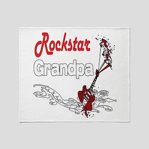 Rockstar Grandpas Throw Blanket