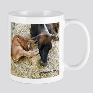 Sleeping calf Mugs