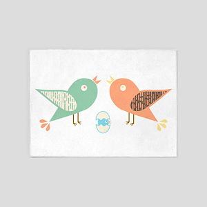 Birds and egg 5'x7'Area Rug