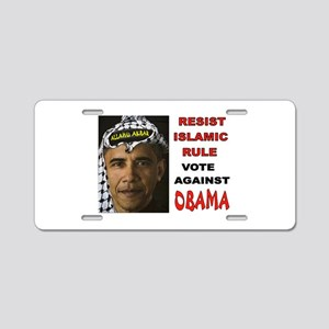 NOBAMA NO SHARIA Aluminum License Plate