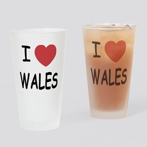 I heart Wales Drinking Glass