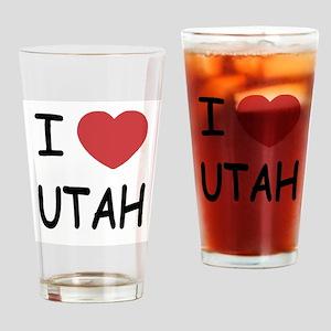 I heart Utah Drinking Glass