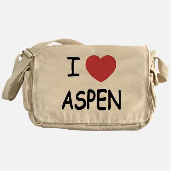 I heart Aspen Messenger Bag