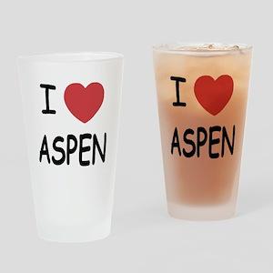 I heart Aspen Drinking Glass