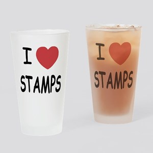 I heart stamps Drinking Glass